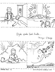Story of Elijah coloring page
