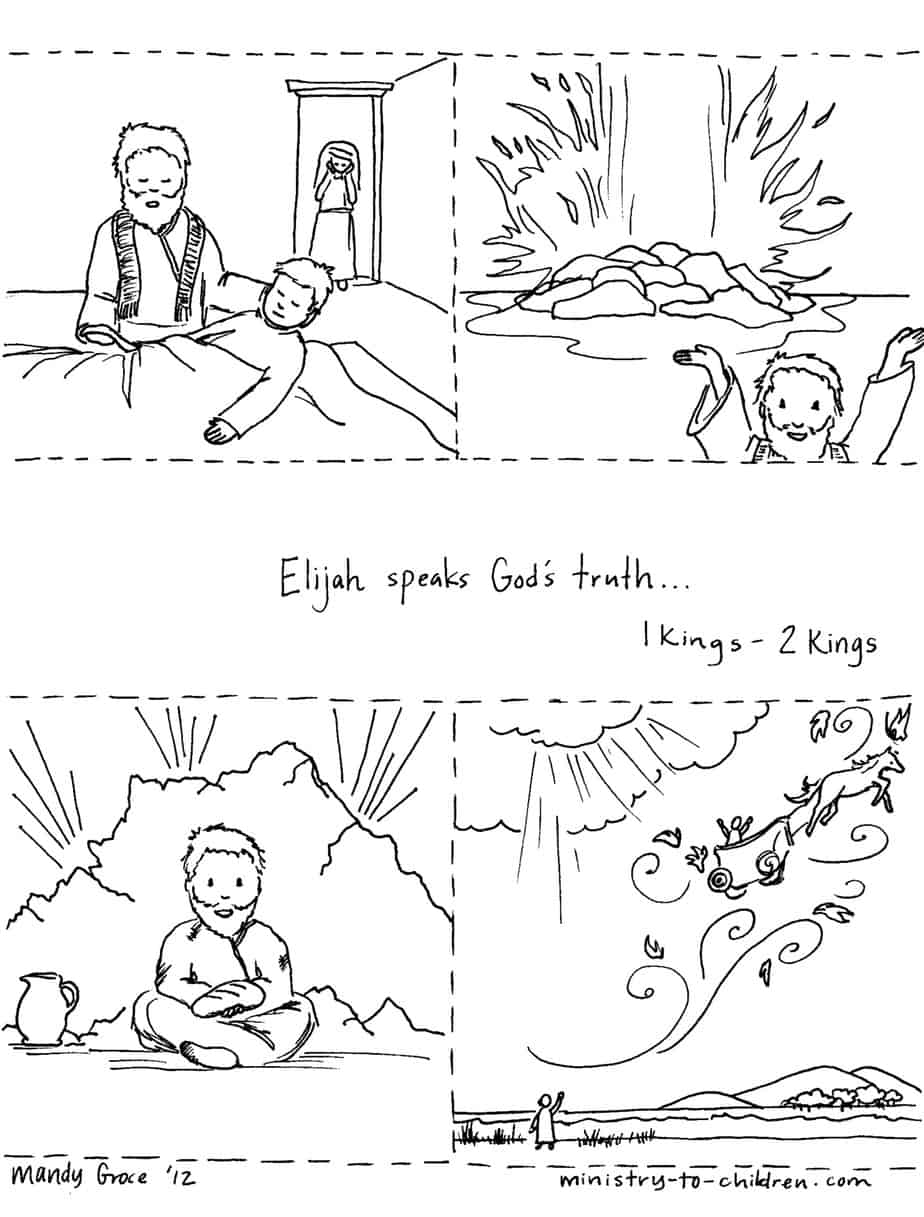 story page pdf jpeg 1st - Elijah Bible Story Coloring Pages