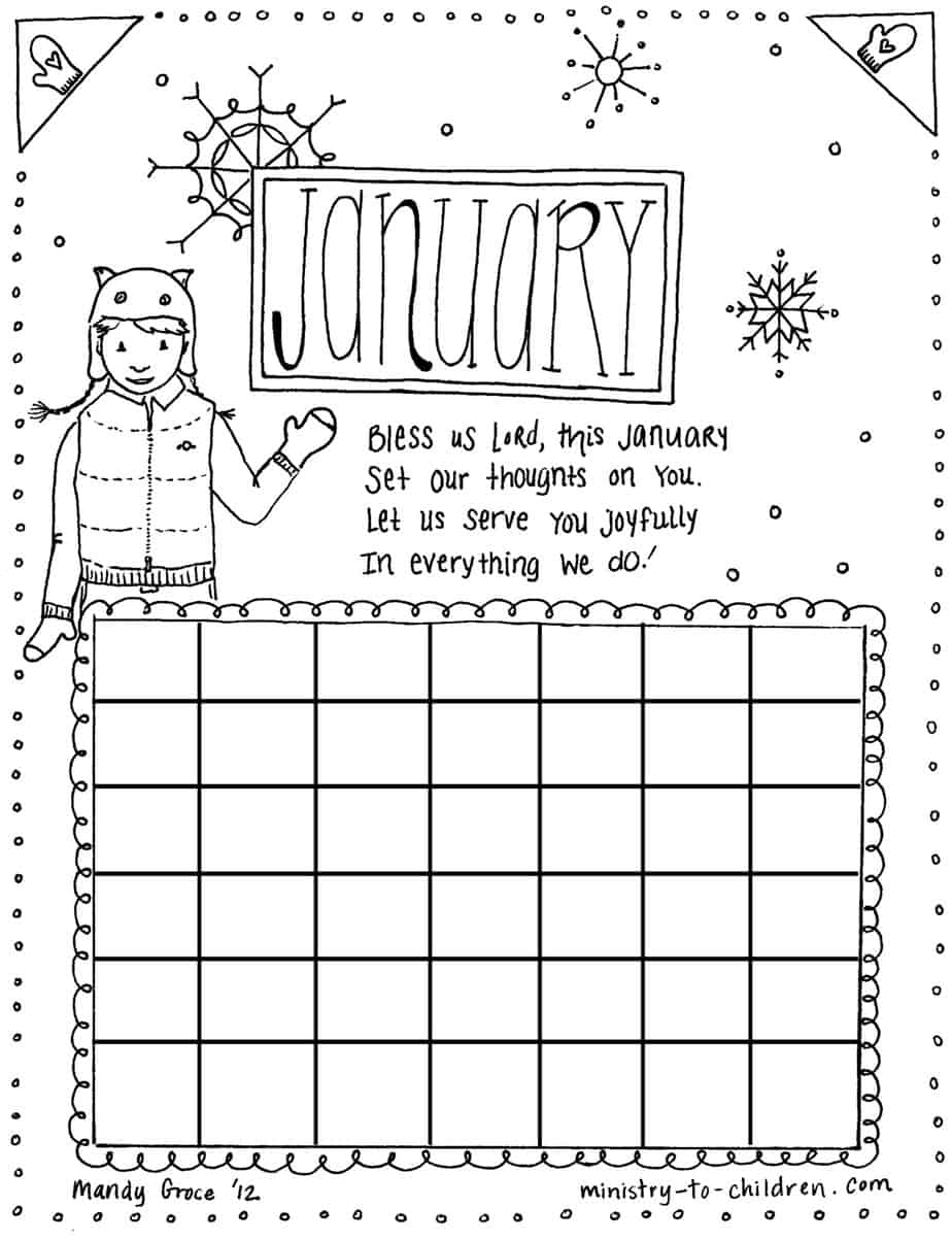 Coloring Pages January Color Pages january coloring page calendar jpeg for advanced users to edit