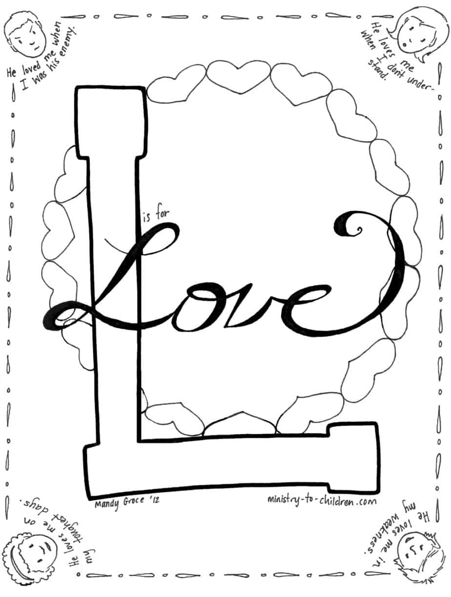 Free coloring pages love