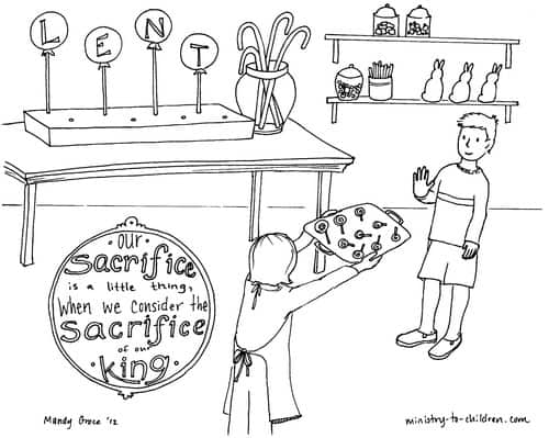 Free Printable coloring sheets for Lent