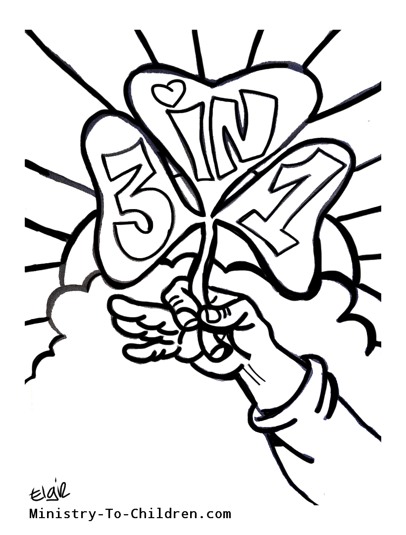 Clip Art Holy Trinity Coloring Pages Breadedcat Free Printable