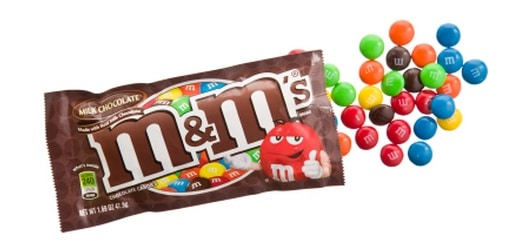 M&amp;M's candy bag open