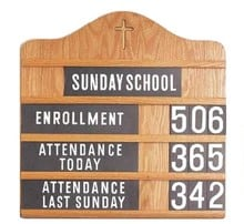 Sunday School Attendance Display
