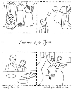 Zacchaeus Coloring Page