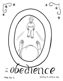 Boy Obedience Coloring Page