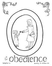 girl Obedience Coloring Page