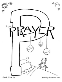 Prayer coloring sheet printable