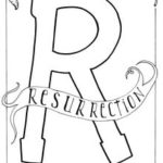 coloring sheet for the letter R