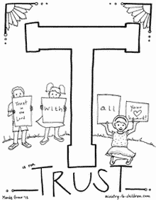 Trusting God Coloring Page