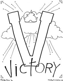 Victory coloring page