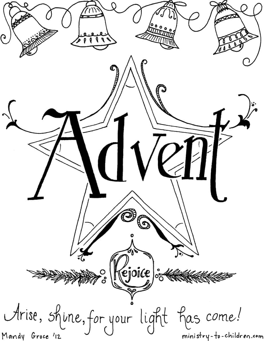 Free Christian Coloring Book for the Advent Season