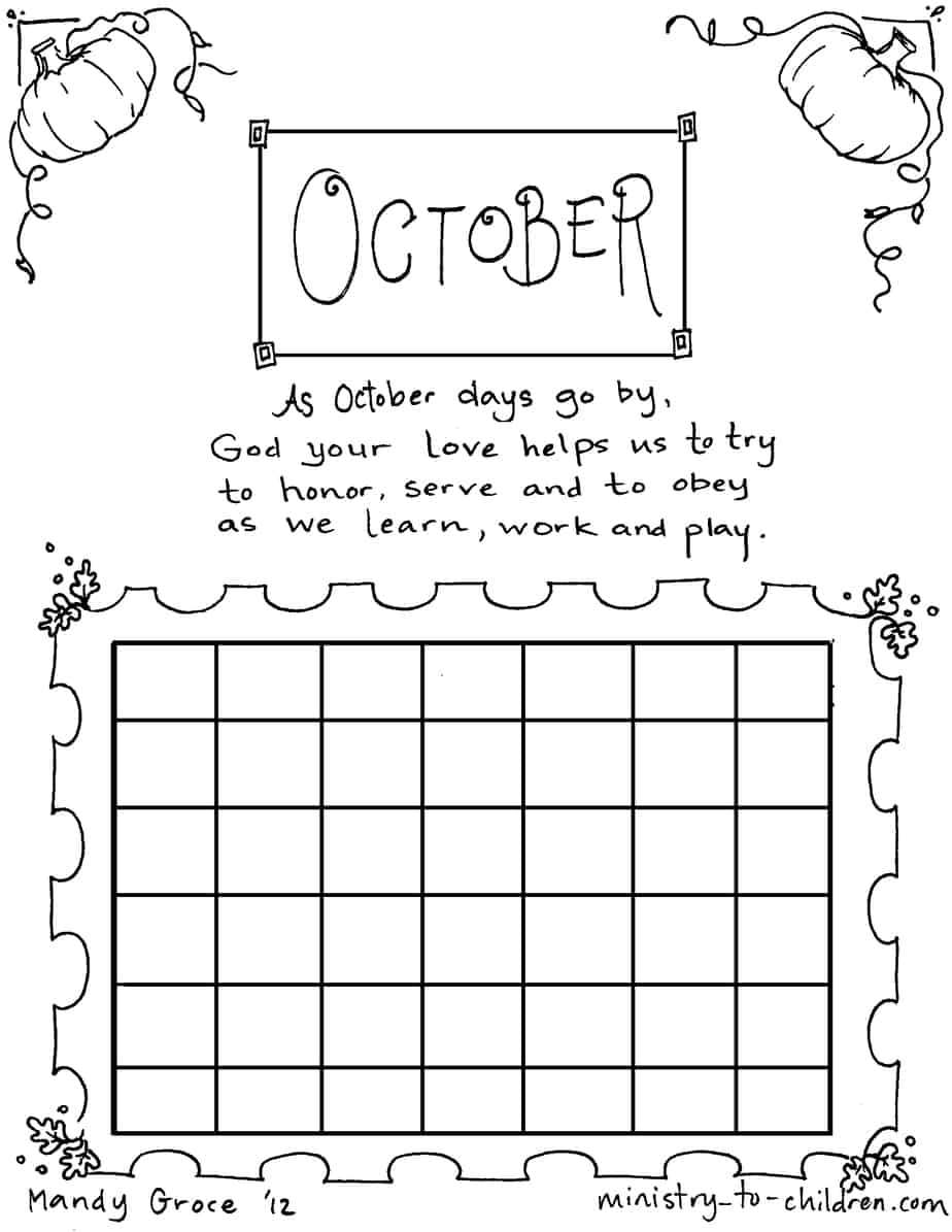 calendar planner coloring pages