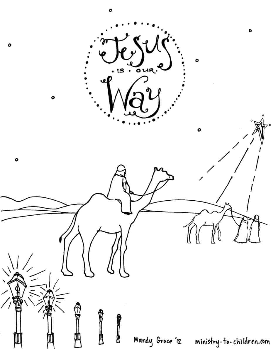 Children Coloring Sheet Advent