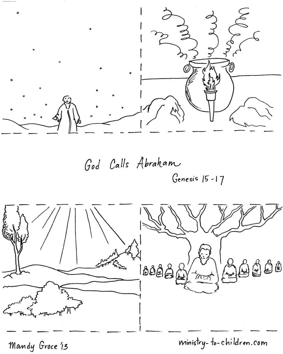 bible coloring page abram thanks the lord abraham coloring pages