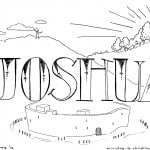"""Joshua"" Bible Coloring Page"