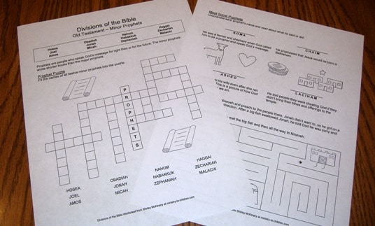Free Worksheets for Bible Divisions Review – Books of the Bible Worksheet