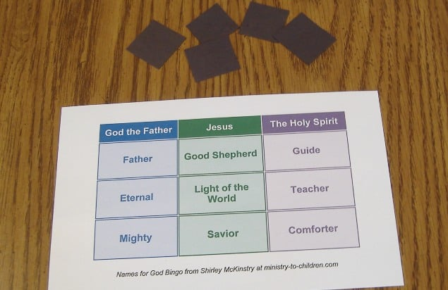 """Names for God"" Bingo Review Game"