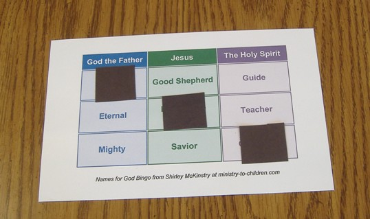 "Printable ""Names of God"" Sunday School Game"