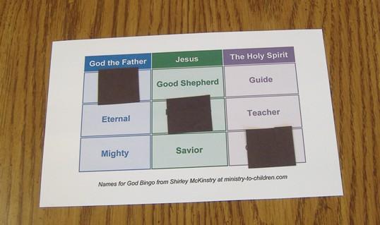"Printable ""Names of God"" Sunday School Game"