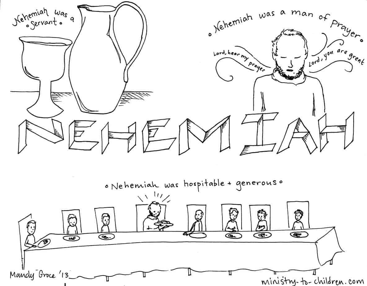 """book of nehemiah"""" bible coloring page, coloring"""