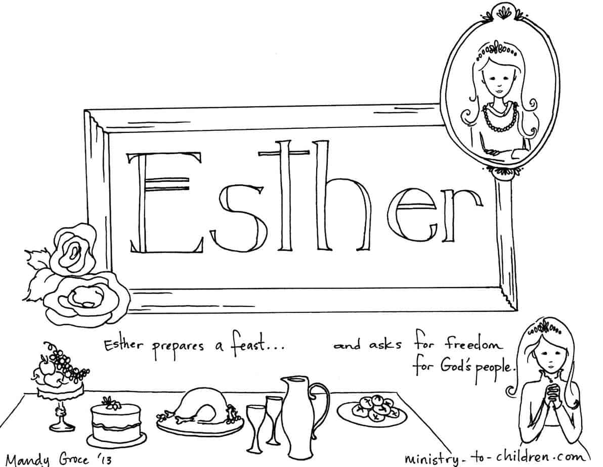 Coloring pages esther