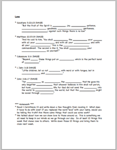 "Fruit of the Spirit"" Bible Worksheets"