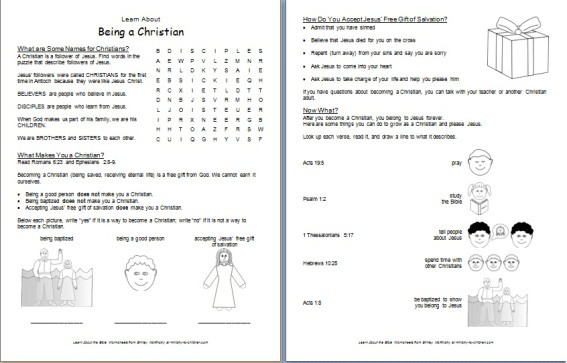 Worksheet Bible Worksheets For Adults what is a christian printable bible worksheet for kids learn about being christian