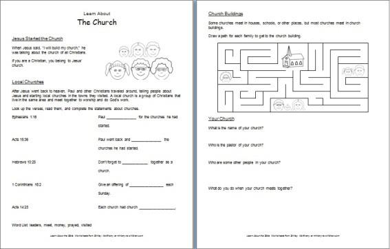 Free Bible Worksheet for Kids