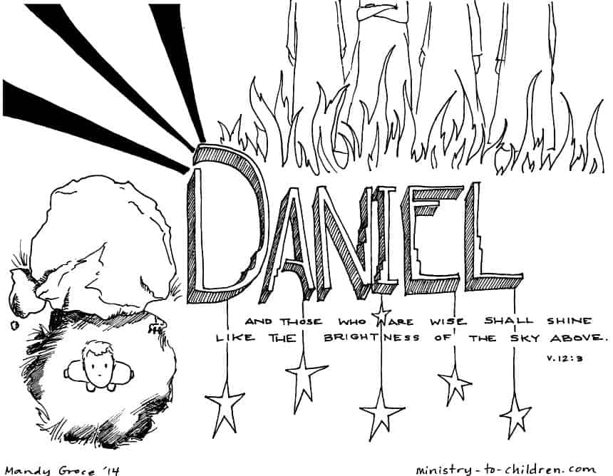 daniel bible book coloring page printable - Books Bible Coloring Pages