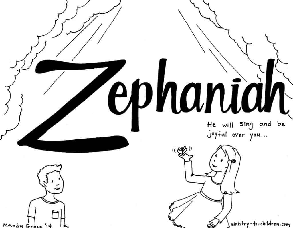 zephaniah bible coloring page - Books Bible Coloring Pages