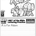 A is for Adam Coloring Page & Letter Practice