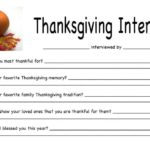 Thanksgiving Interview Idea for Children & Families
