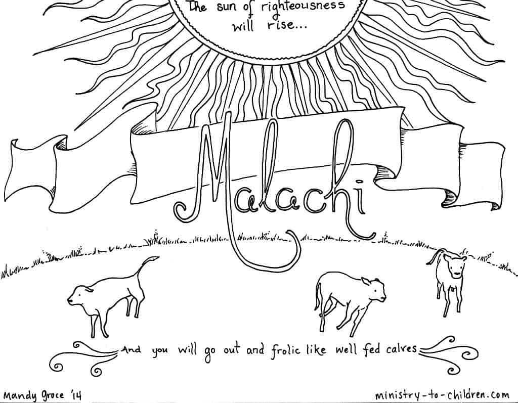 malachi coloring page