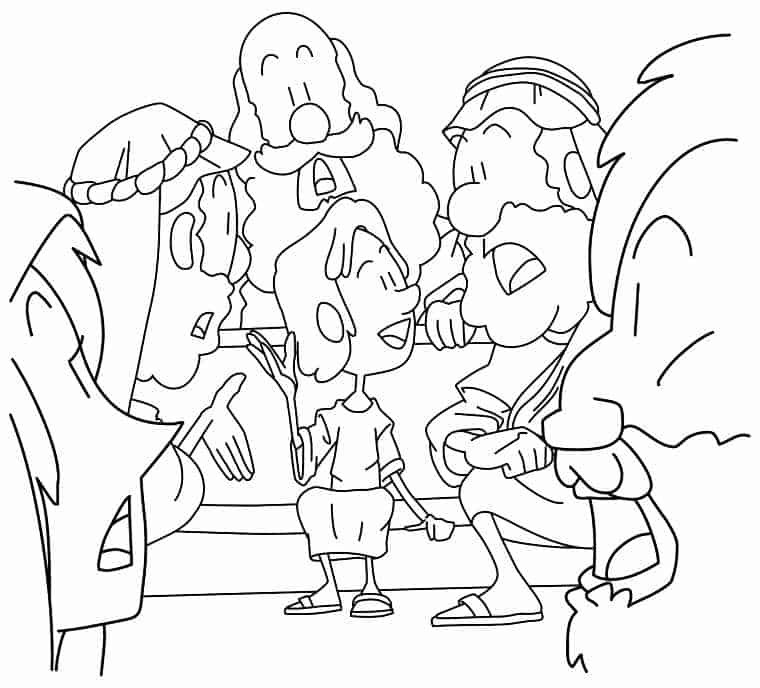 Coloring Sheet Jesus In The Temple