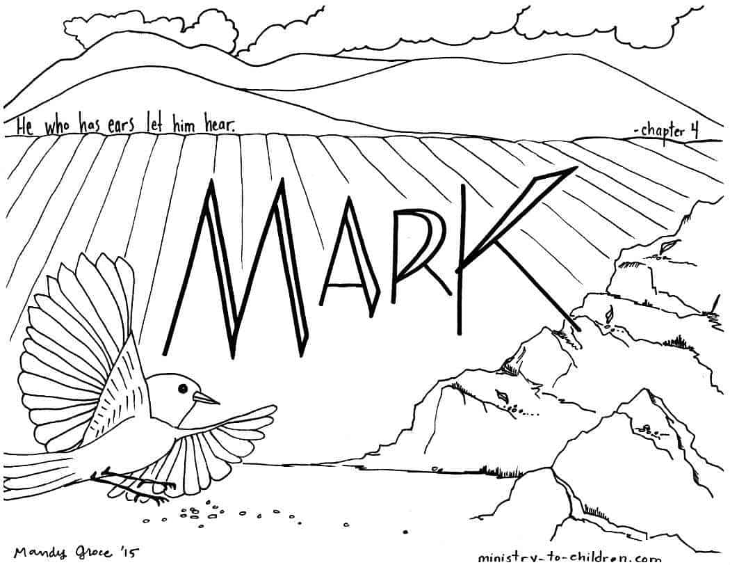 mark bible book coloring page - Books Bible Coloring Pages