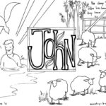 """John"" Bible Book Coloring Page"