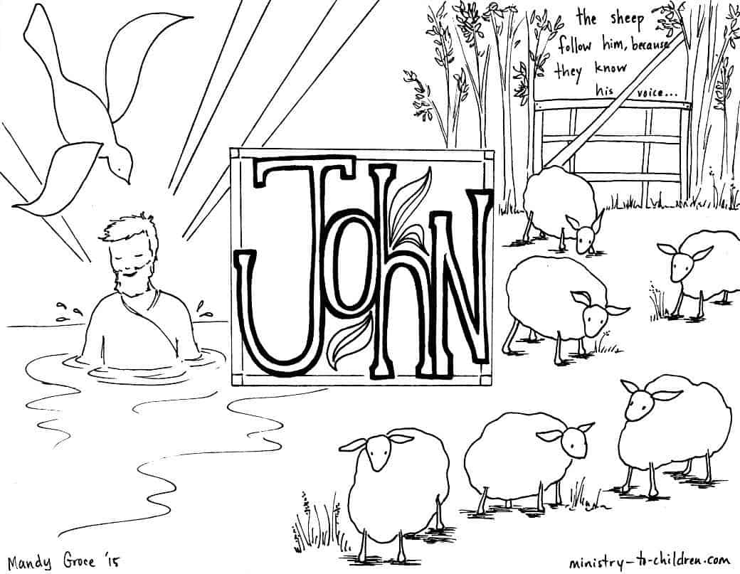 gospel of john free bible coloring pages - Books Bible Coloring Pages