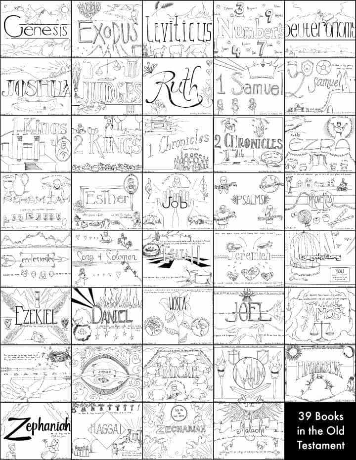 39 Books of the Old Testament Bible Coloring Pages