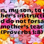 Pin the Corsage Mother's Day Object Lesson (Proverbs 1:8)