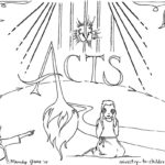 """Acts"" Bible Book Coloring Page"