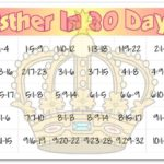 """Esther In 30 Days"" Bible Reading Chart for Kids"