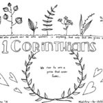 """1 Corinthians"" Bible Book Coloring Page"