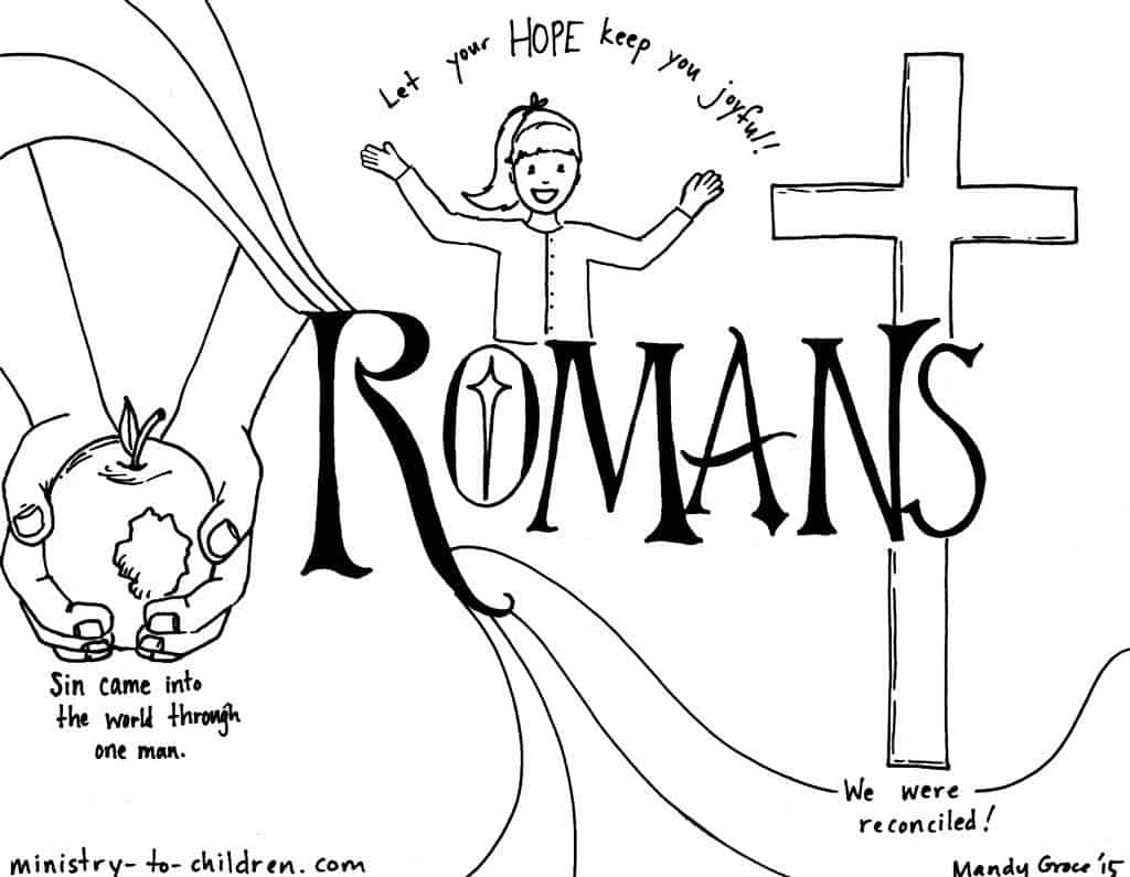 romans bible book coloring page - Books Bible Coloring Pages