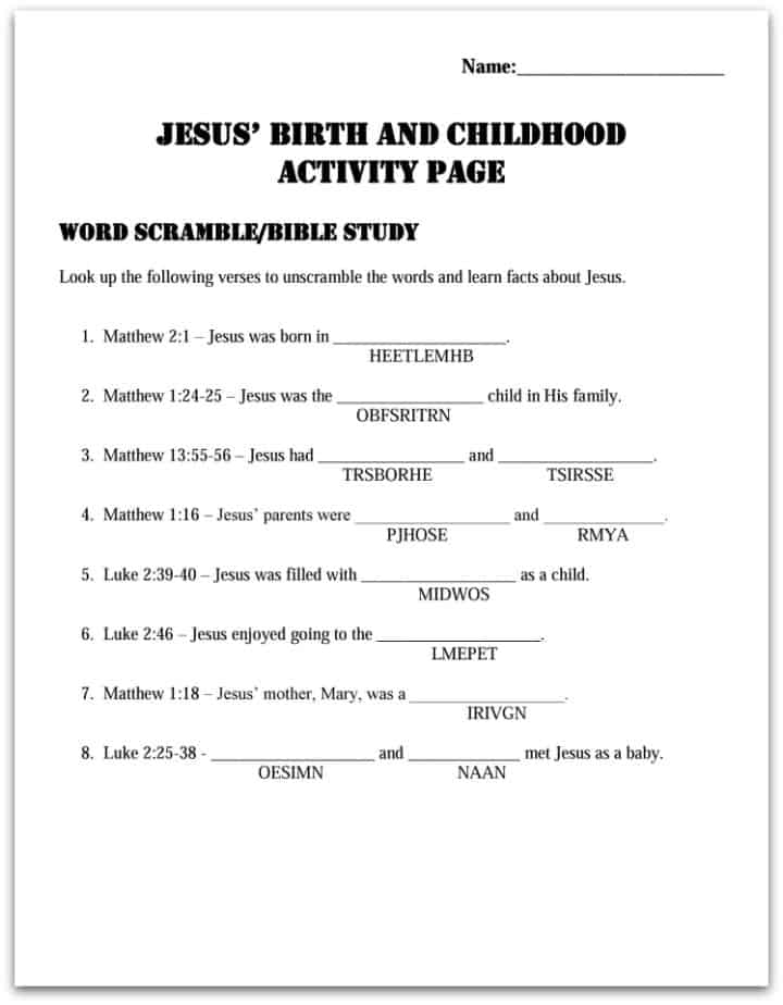 birth of jesus worksheets moreover Jesus Birth Activities For Kids