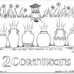 """2 Corinthians"" Bible Book Coloring Page"