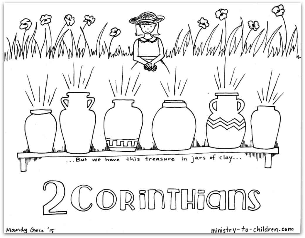 2 corinthians coloring - Books Bible Coloring Pages