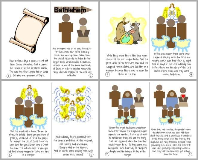 THE Christmas Story – Luke 2:1-20 Printable Booklet