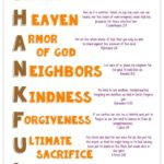 Thankful Acrostic Printable with Bible Verses
