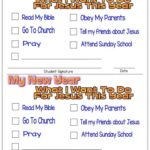 New Year's Resolutions for Kids – What I Want To Do For Jesus This Year